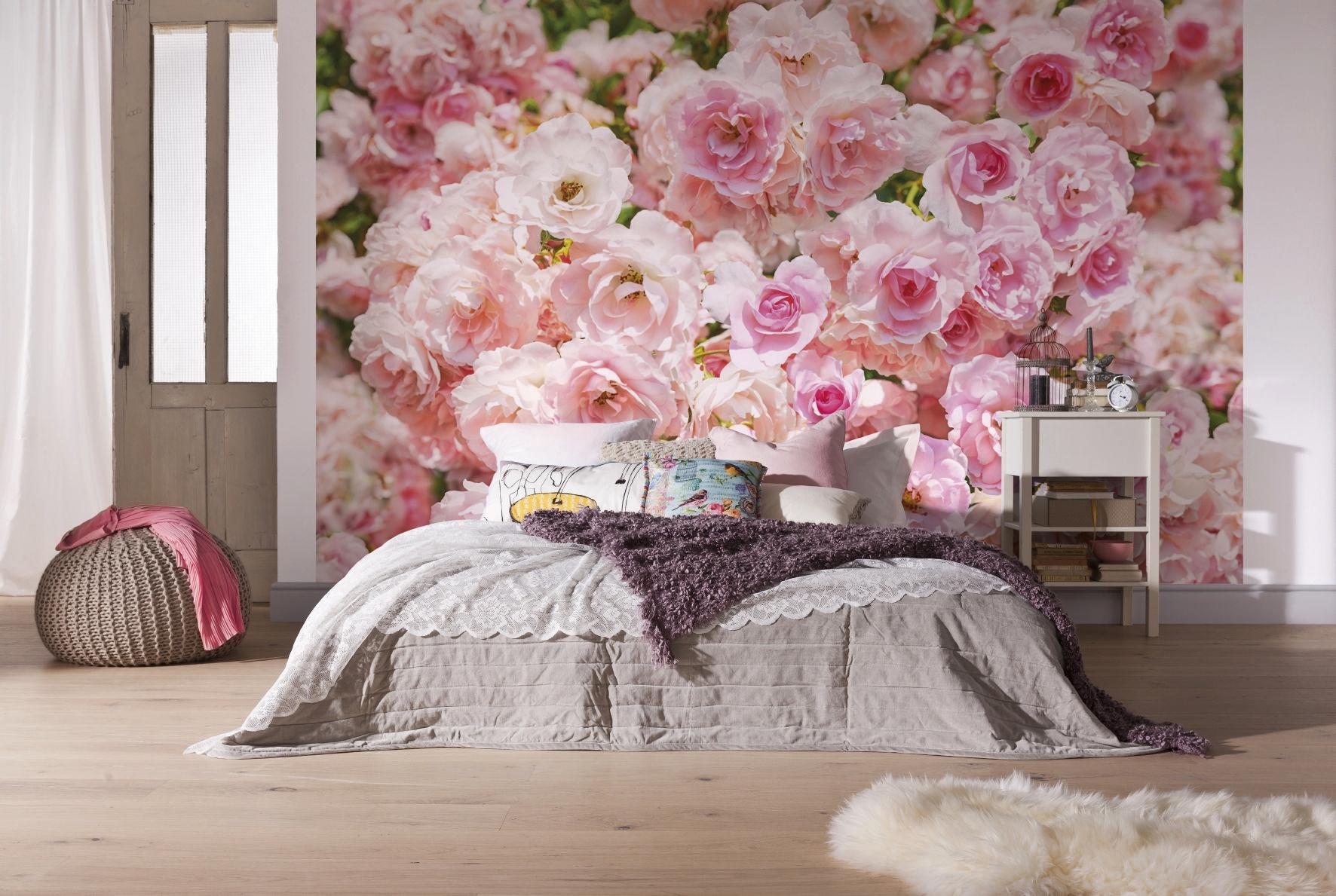 Фото красивых фотообоев с цветами